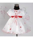 Krstna obleka rdeča 12-18 mesecev