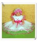 Krstna oblekica 715 temno roza 0-3 mesece