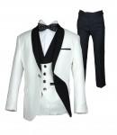 Svečana 5 delna ekskluzivna, belo črna obleka