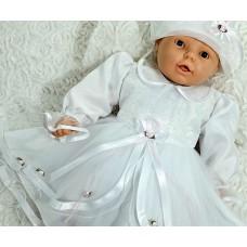 Obleka za krst s klobučkom