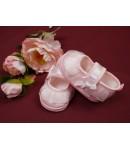 Svečani copatki roza z volančkom zaloga